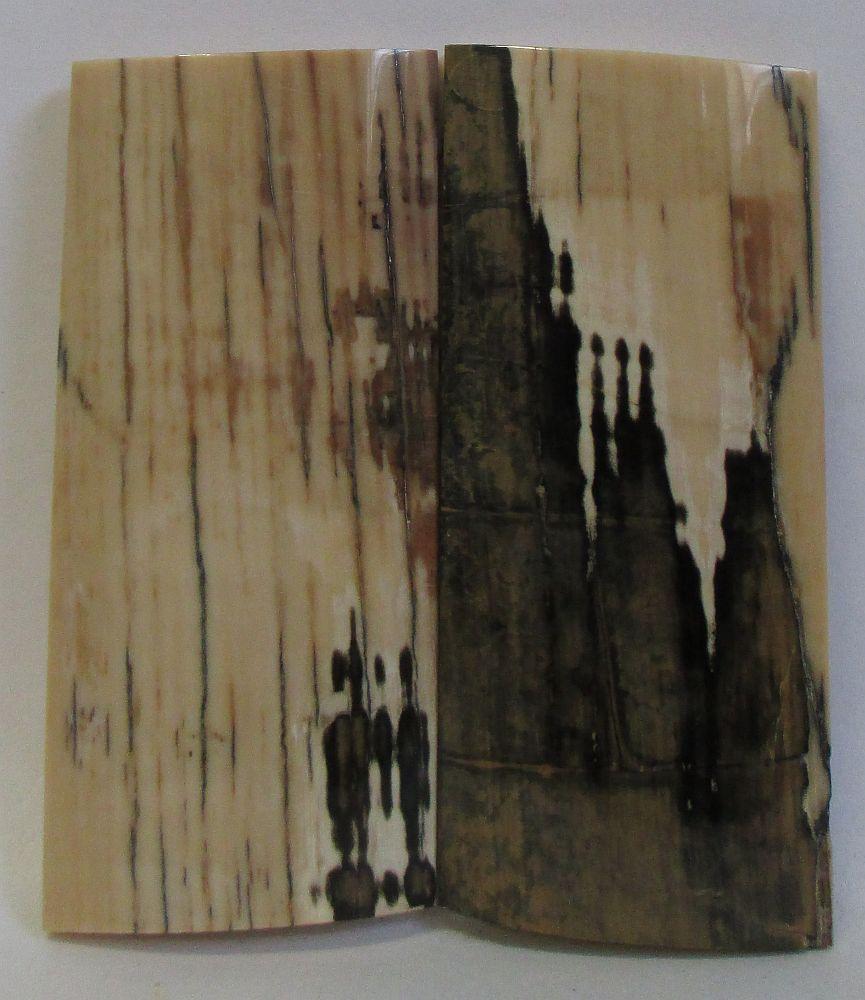 MAMMOTH IVORY SCALES 2-5/8 x 1-5/32 x 5/32